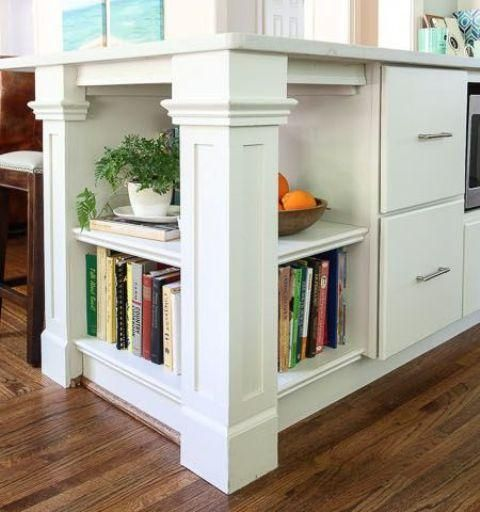 Küche Insel Mit Buchlager
