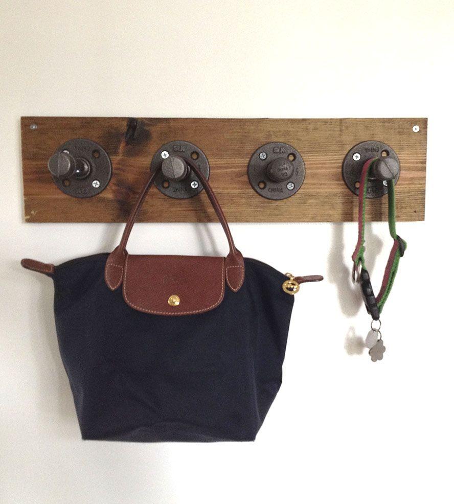 DIY idea :: Reclaimed Wood & Pipe Coat Rack