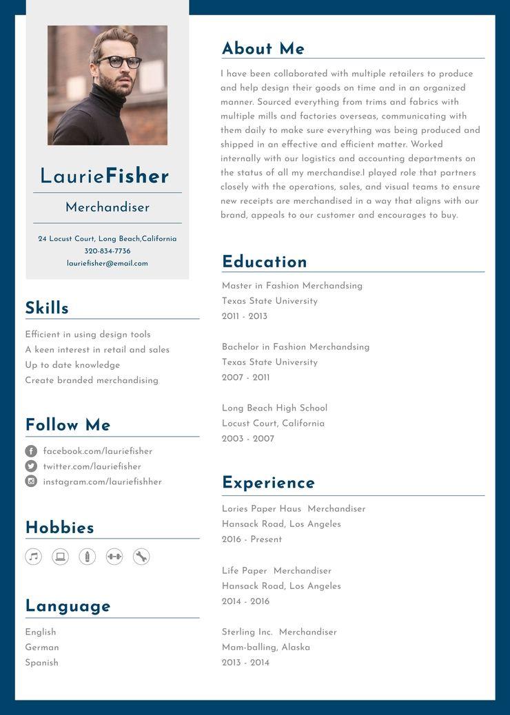 free garment merchandiser resume