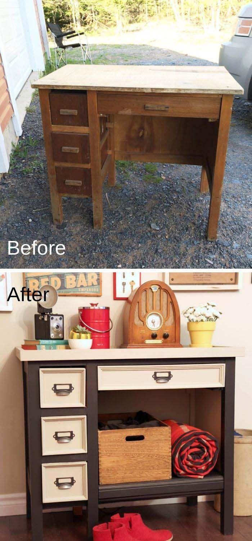 28 Awesome DIY Furniture Makeover Ideas #oldfurniture