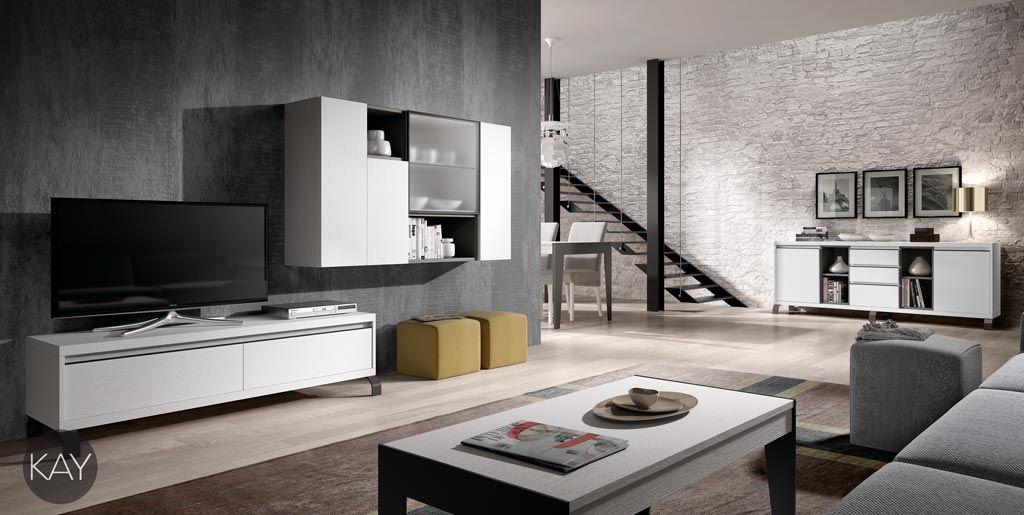 Muebles bajos para la televisi n de la colecci n kay muebles tv pinterest salons - Muebles arriazu ...
