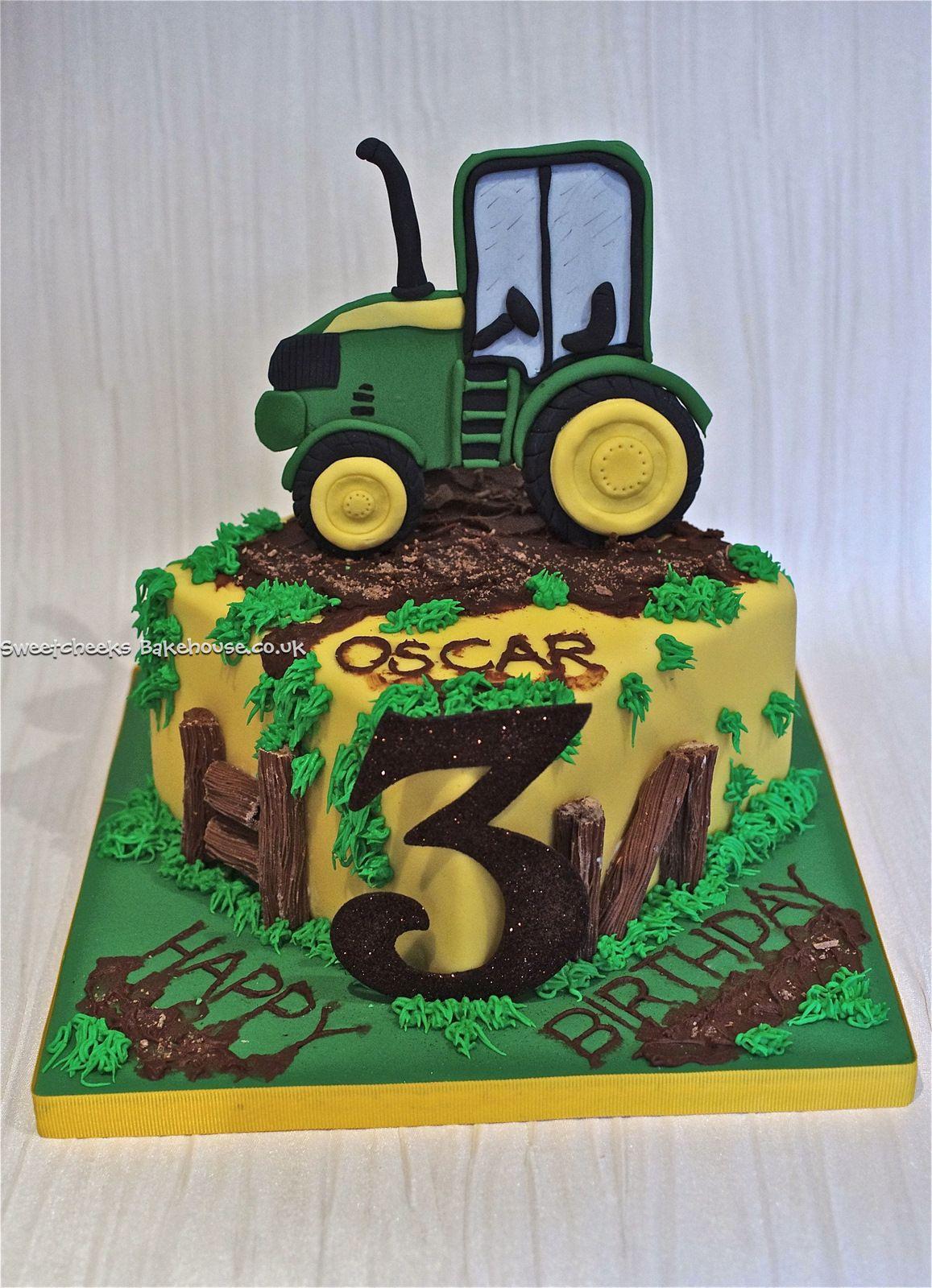 Home Cakes For Men John Deere Tractor Cake Birthday Farm
