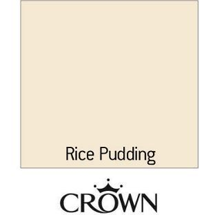 Crown Kitchen Bathroom Matt Paint Rice Pudding 25L from