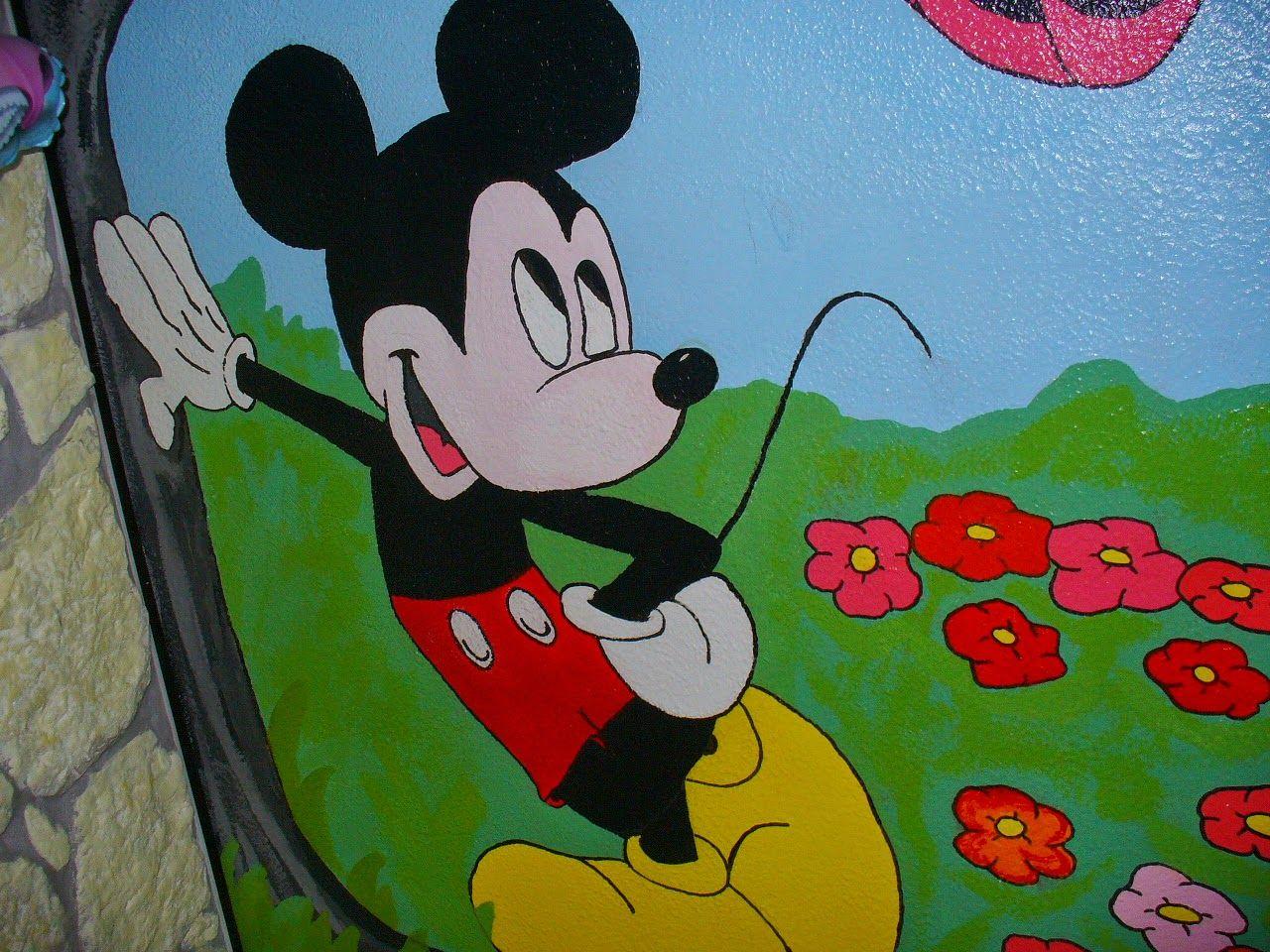 Clipart bambini ~ Topolino mickey mouse murales cameretta bambini decorazione