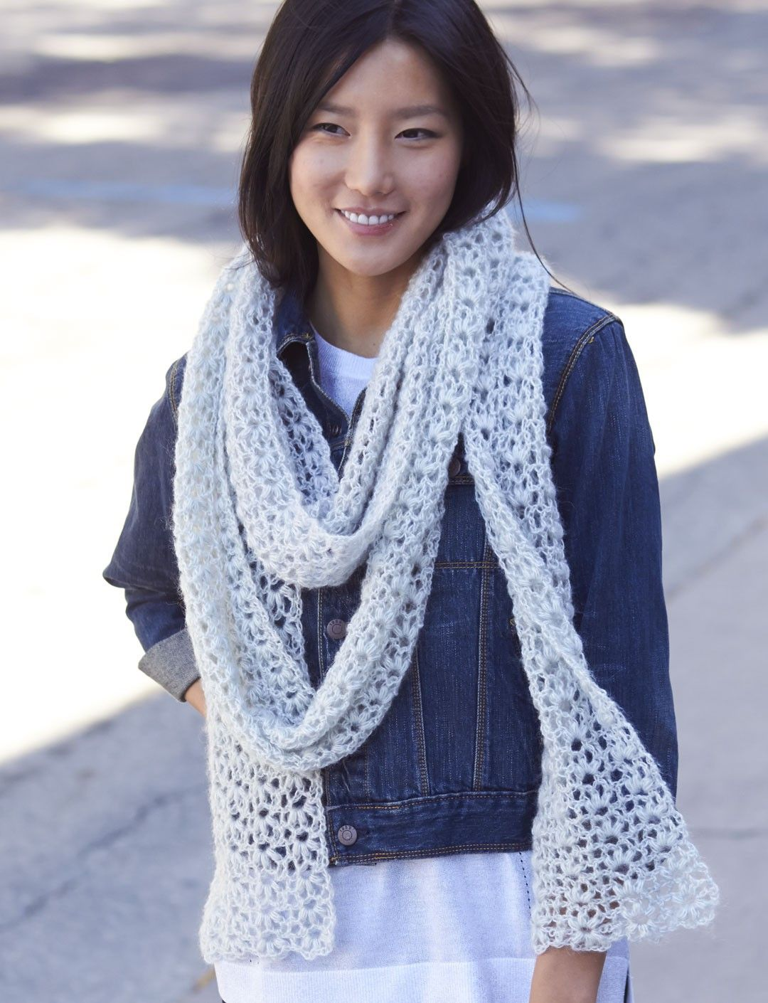 Yarnspirations.com - Patons Snow Puff Scarf - Patterns ...