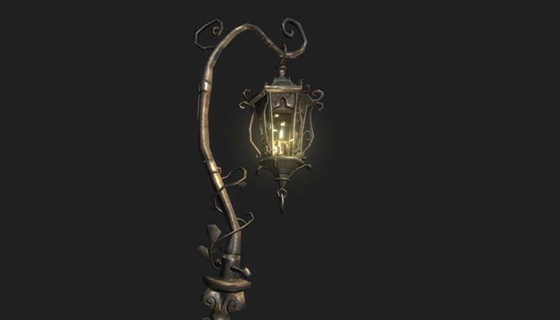 Fantasy Street Lamp Post 3d Exterior Unity Asset Store In 2020 Lamp Post Street Lamp Street Lamp Post