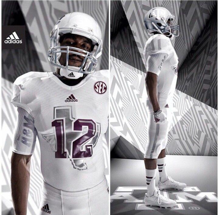 Texas A M White Ice Uniforms Football Uniforms College Football Uniforms Sports Uniforms