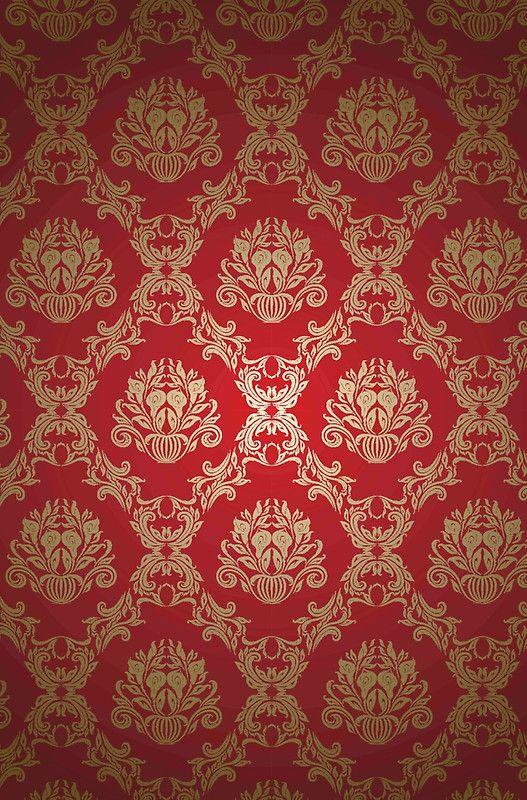 Damask,royal,deep red,gold,vintage,elegant,chic,formal