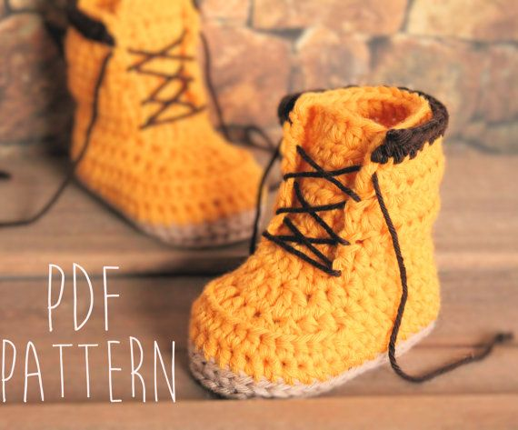 Crochet PATTERN boots for baby boys fall booties \