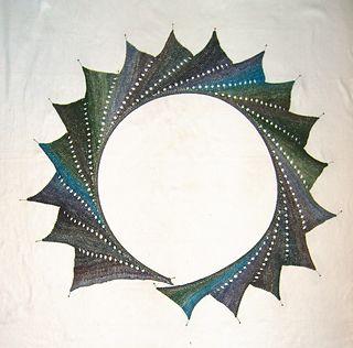 Wingspan shawl, eyelet modification | Yarn and Needle Arts ...