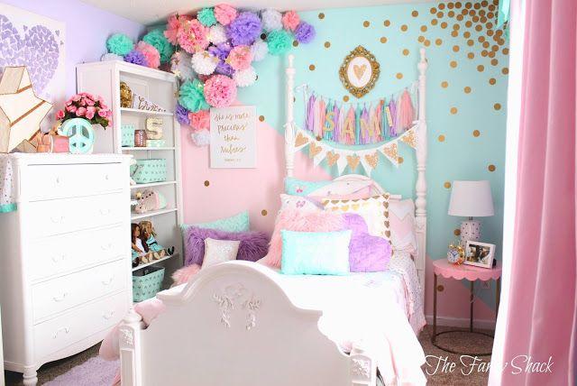 The Fancy Shack: Pastel Girls Room Makeover · PastellmädchenraumModerne  SchlafzimmerKinderschlafzimmerMädchen SchlafzimmerSchlafzimmer IdeenLila ...