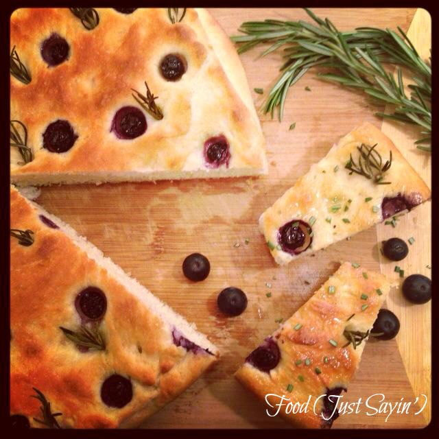 Break Out The Berries: Blueberry Rosemary Focaccia