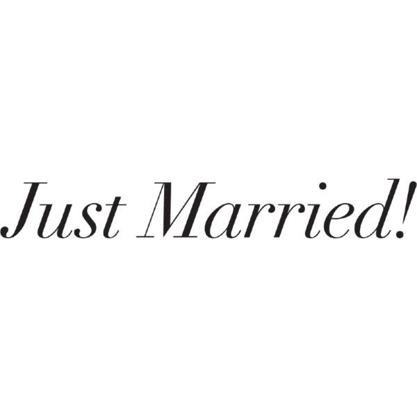 just married text liked on polyvore featuring text words
