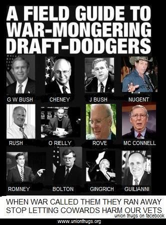 Politicians who dodged the draft