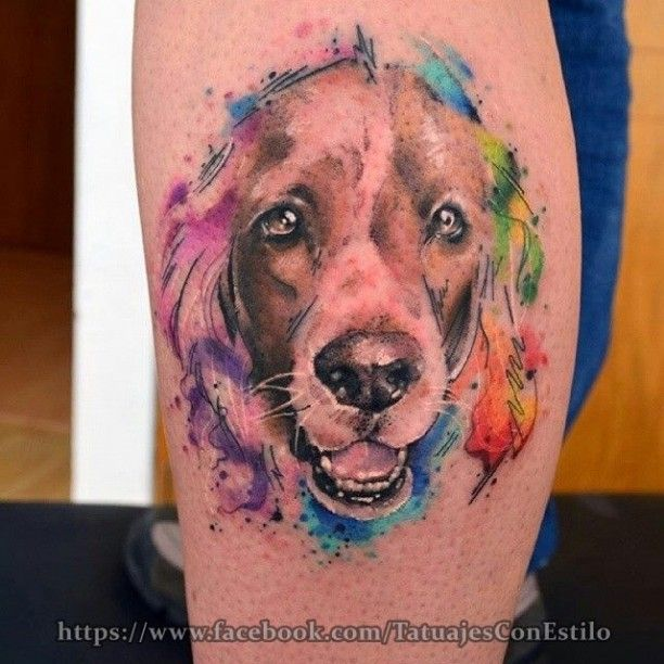 Tattoo Hund Watercolor Hund Tattoo Hundetattoo Hund