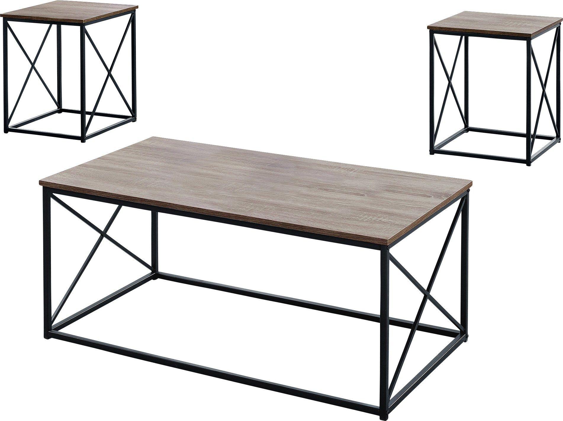 Valburn Taupe 3 Pc Table Set 3 Piece Coffee Table Set Laminate