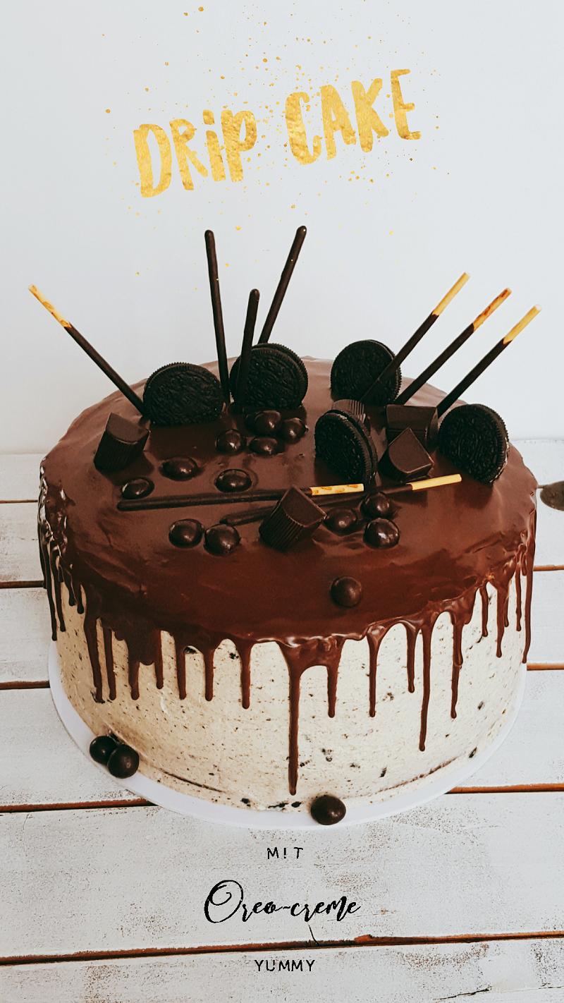 drip cake mit oreo creme rezept und anleitung backen pinterest kuchen creme rezepte und. Black Bedroom Furniture Sets. Home Design Ideas