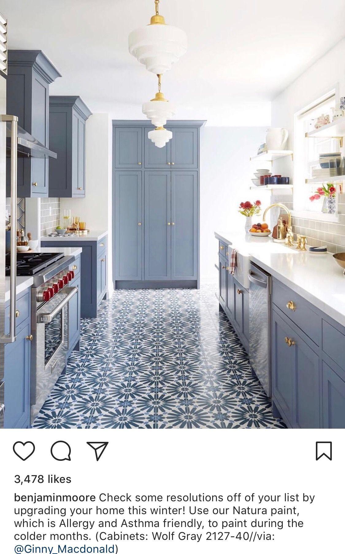 Best Bm Wolf Gray Cabinets Blue Kitchen Designs Kitchen 640 x 480