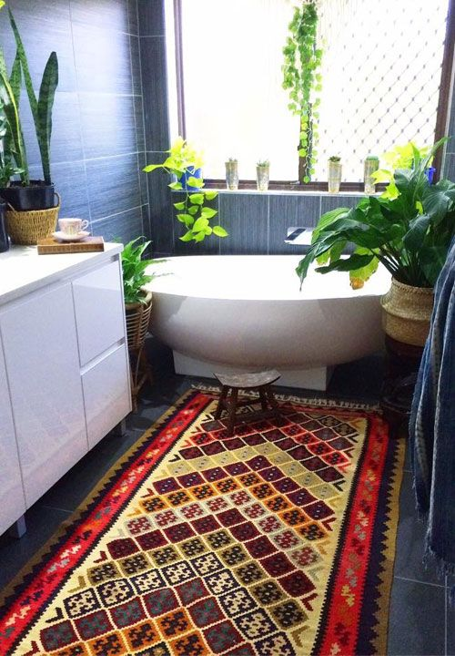 3 Must Have Decorating Items For Bohemian Interior Design | Lovika. Small  Spa BathroomCosy BathroomJungle ...