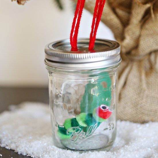 Make A Very Hungry Caterpillar Jar Ornament Inspired By The Children S Book Very Hungry Caterpillar Crafty Kids Diy For Kids