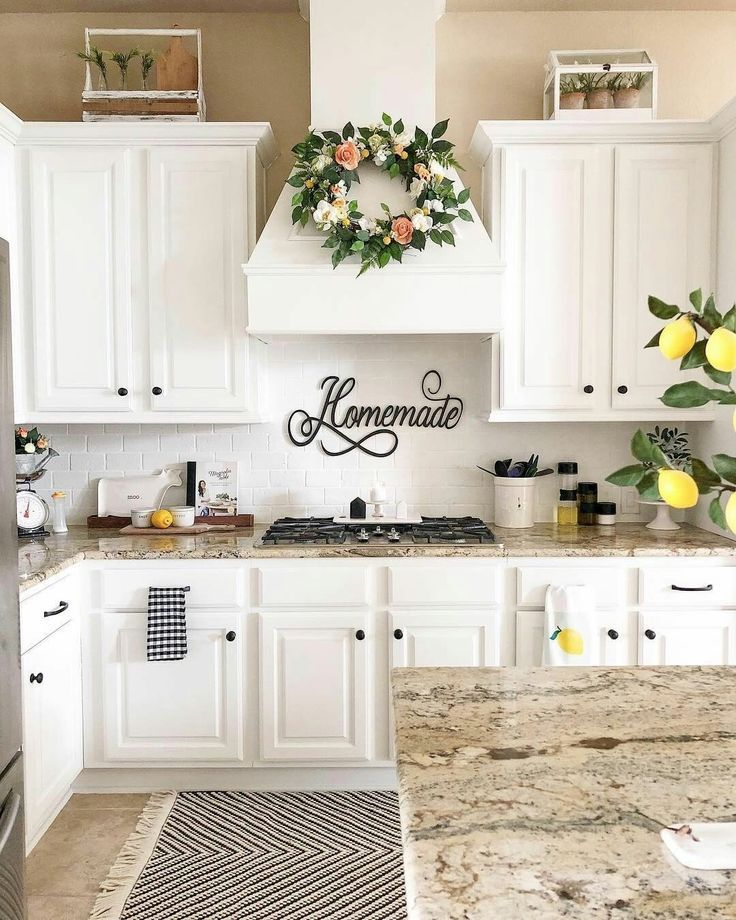 white farmhouse kitchen with white backsplash and granite countertops beautiful magnolia on farmhouse kitchen granite countertops id=72540