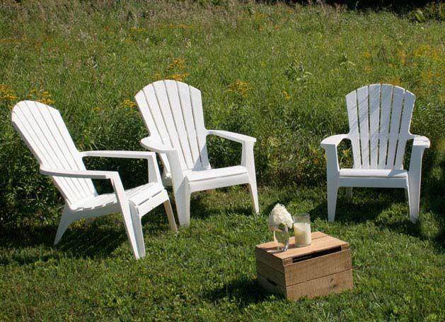 White Plastic Adirondack Chairs