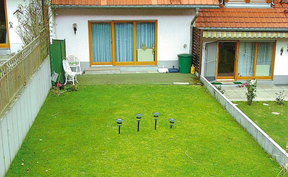 Ein Reihenhausgarten aus der Reihe   Reihenhausgarten, Schmaler ...