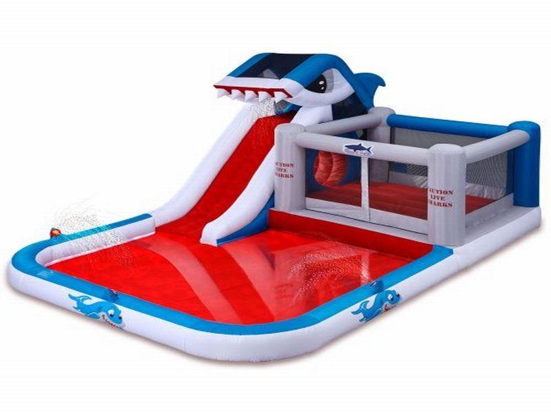 Tibur n inflable tobog n de agua venta de toboganes for Ventas piscinas inflables