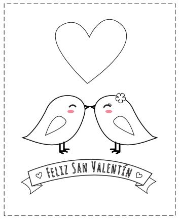 Tarjetas de San Valentín para colorear | Tarjetas | Saint