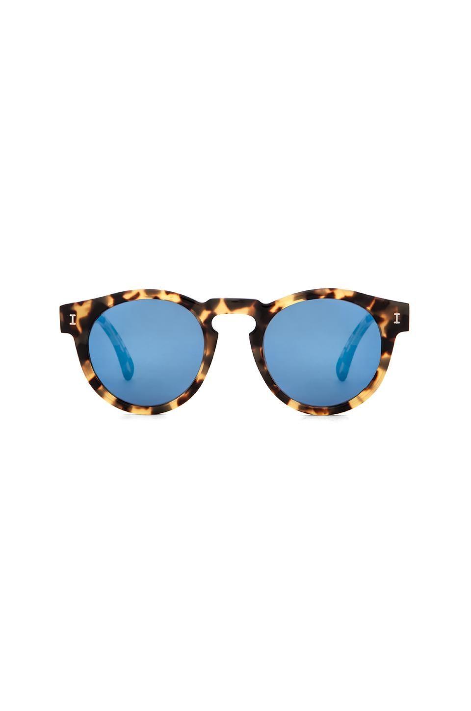 illesteva Leonard in Tortoise & Blue Mirrored from Revolve.com