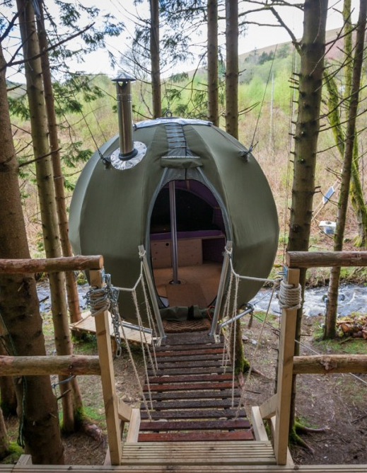 Red Kite Tree Tent Wales Uk Glamping Treehouse
