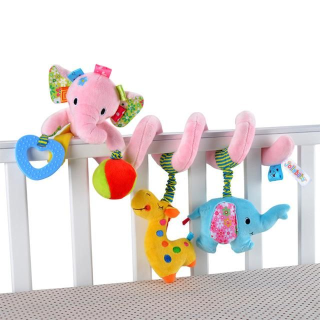 Baby Infant Stroller Hanging Toy Cradle Bed Car Rattle Animal Dolls 0-12 Months