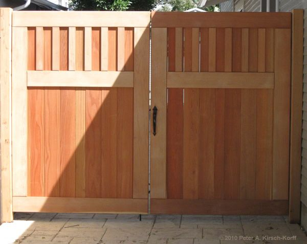 Peter A Kirsch Korff Craftsman Driveway Gates