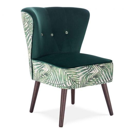 Prime Green Leaf Velvet Penelope Wingback Accent Chair Modern Dailytribune Chair Design For Home Dailytribuneorg