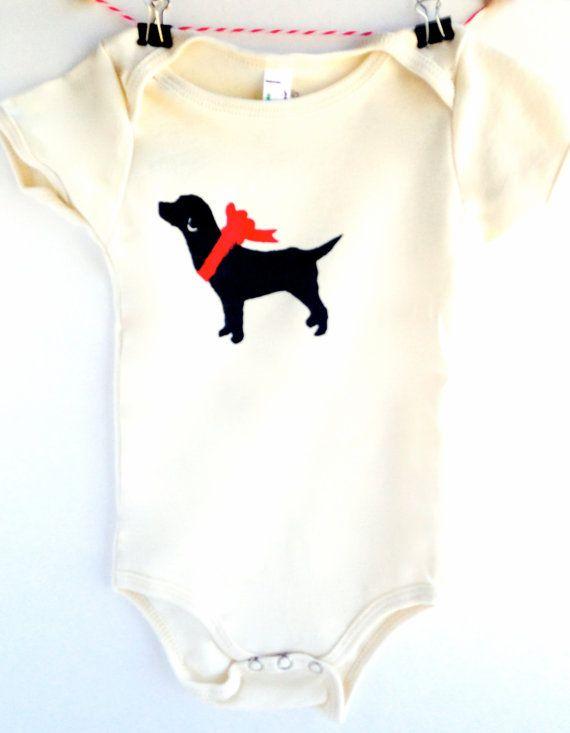 Labrador Baby Bodysuit Organic Lab Retriever Clothes Animal Rescue