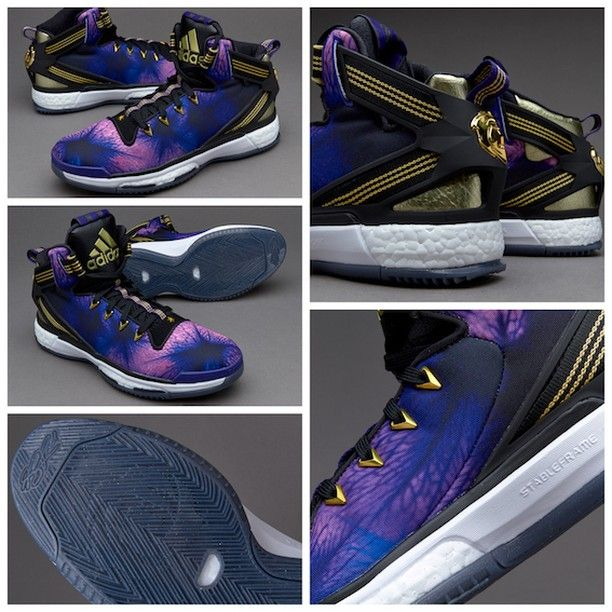 958add3eeda3 best price adidas florist city derrick rose 6 boost core black collegiate  purple gold met bbbe0