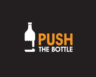 Push the Bottle Logo Design