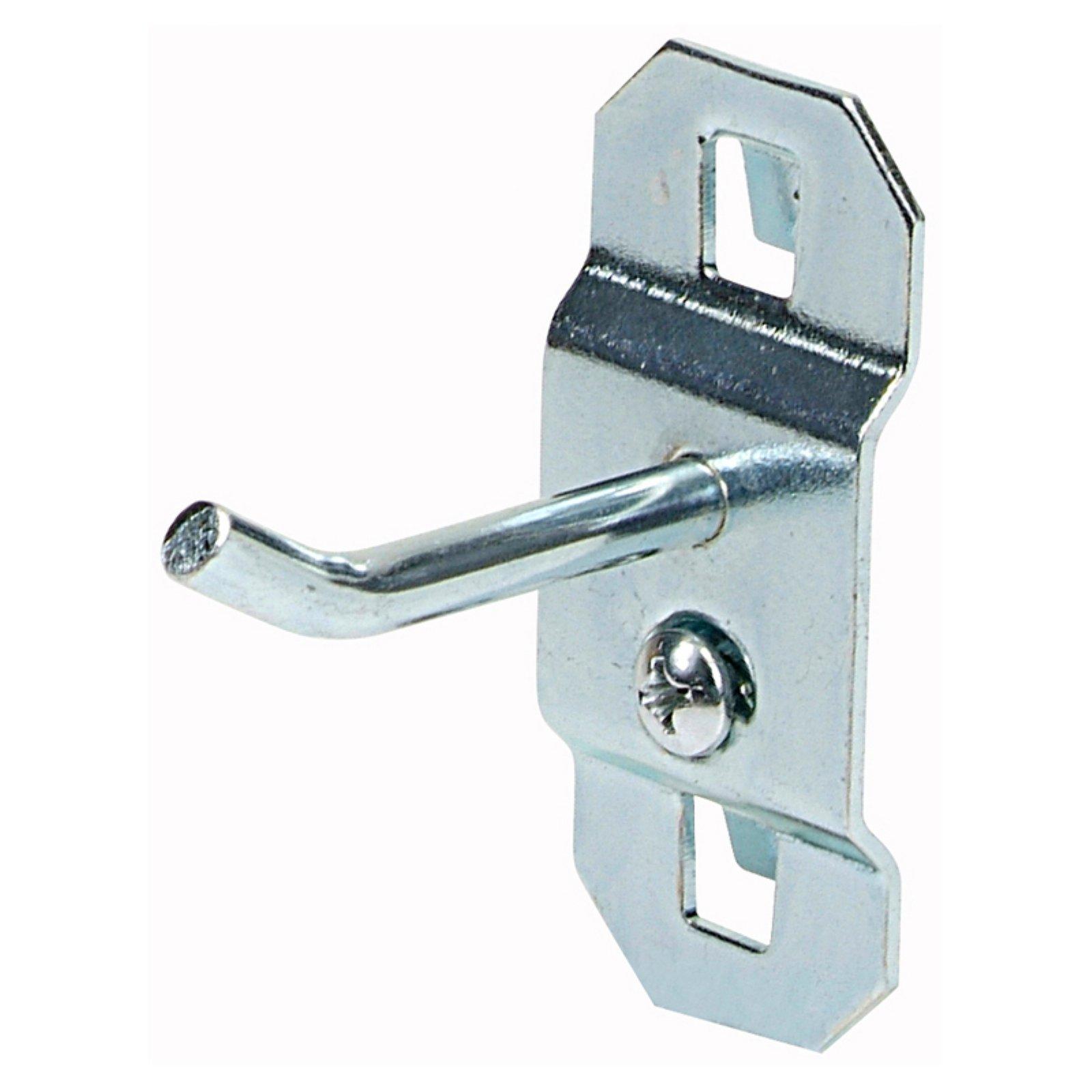 Triton Stainless Steel Lochook 30 Degree Bend Single Rod Pegboard Hook Set Of 3 Size 1 In Steel Pegboard Slatwall Accessories Plastic Hanging