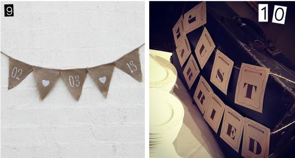 Wedding Bunting Inspiration Unique Ideas