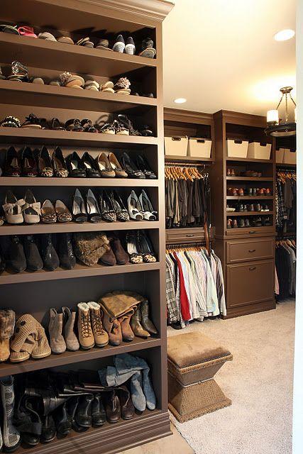 Love This Closet Bathroom Addition Shoe Shelf In Closet Home