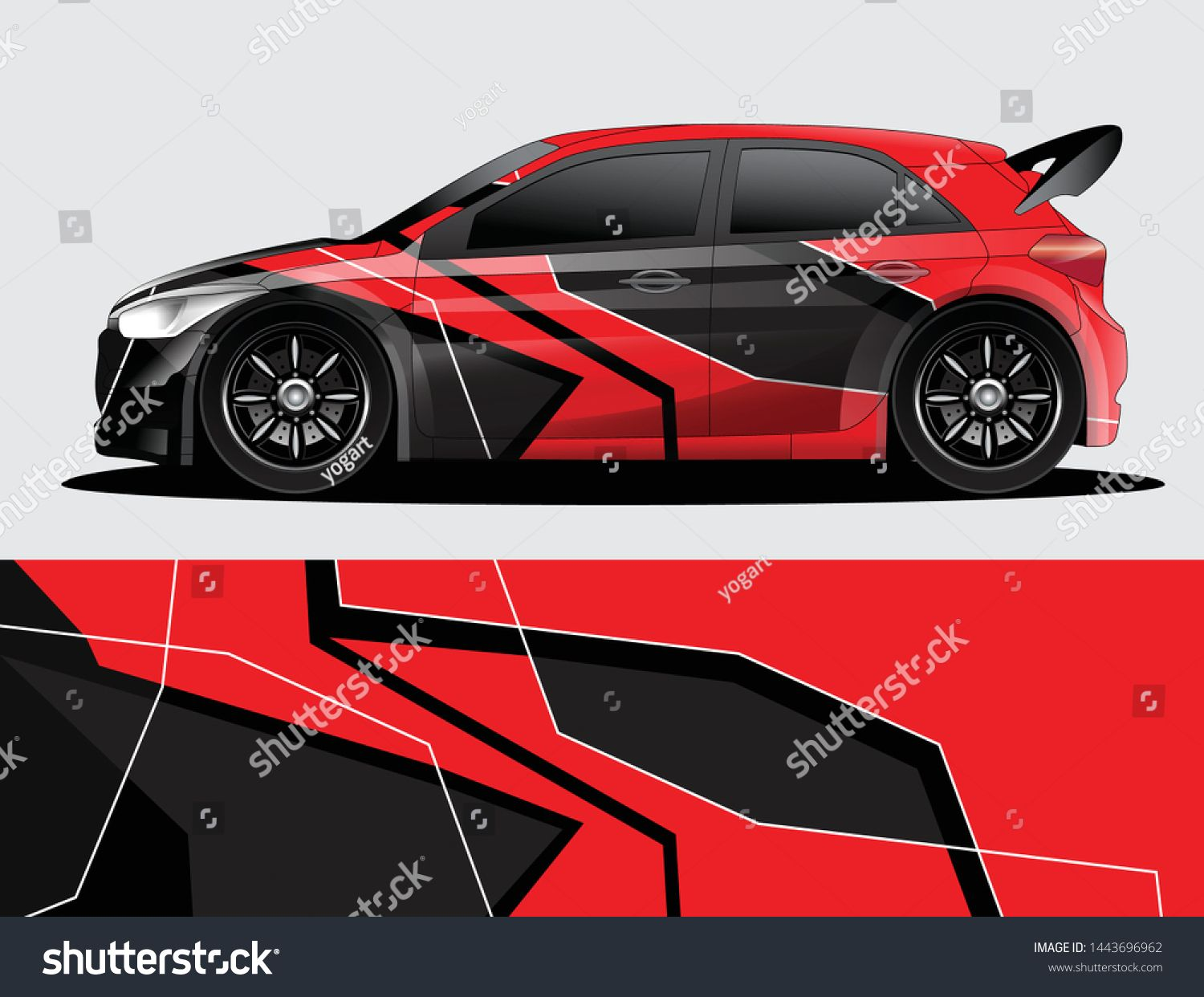 Rally Car Decal Graphic Wrap Vector Abstract Background [ 1242 x 1500 Pixel ]