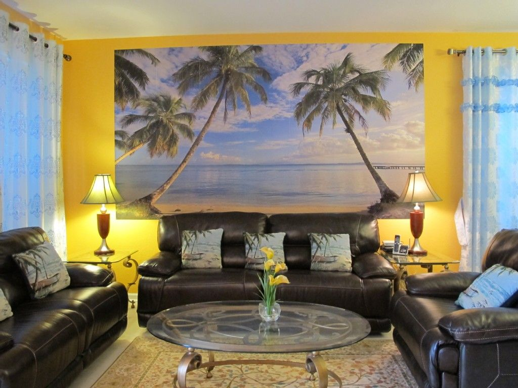 Beach Themed Living Room Design Prepossessing Interior Blue Curtain Side Nice Lamp On Square Table Fit To Beach Design Decoration