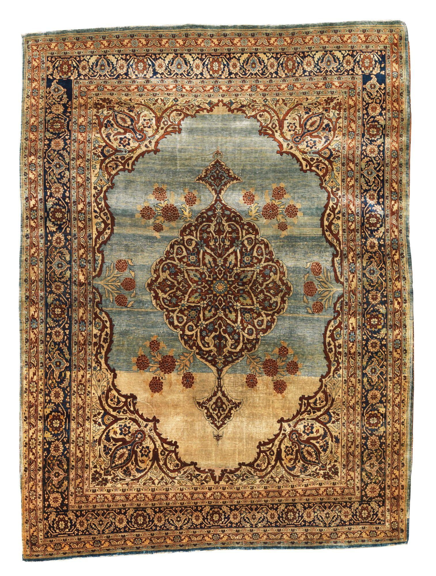Lot 89 Sotheby S Rug Sale Tabriz Silk Rug Northwest Persia