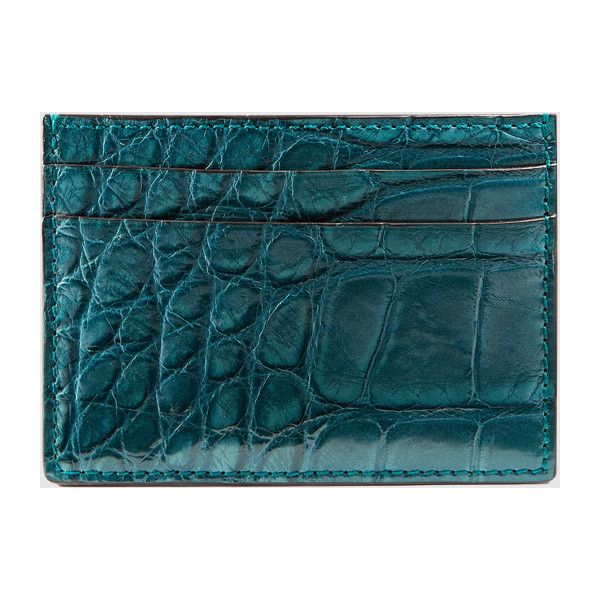 c5b7852dc05 Gucci crocodile card case ( 495) ❤ liked on Polyvore featuring bags ...