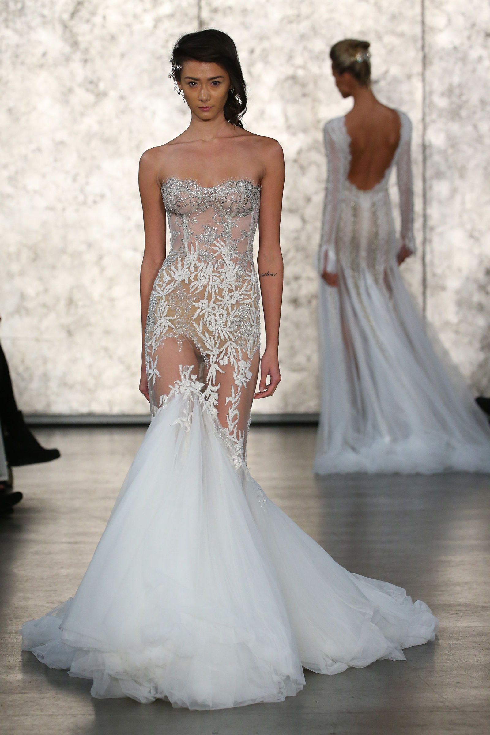 18 extra naked wedding dresses that put it all out there