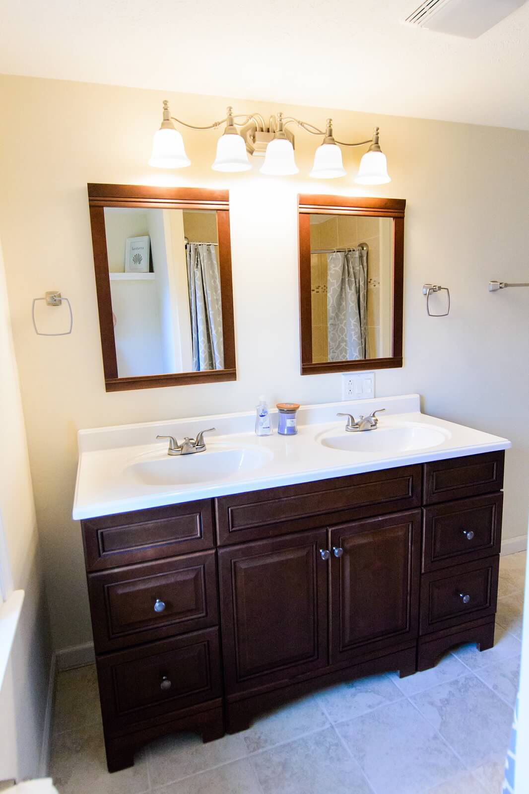 Master bath: Allen + Roth from Lowe's. | Vanity, Bathroom ...