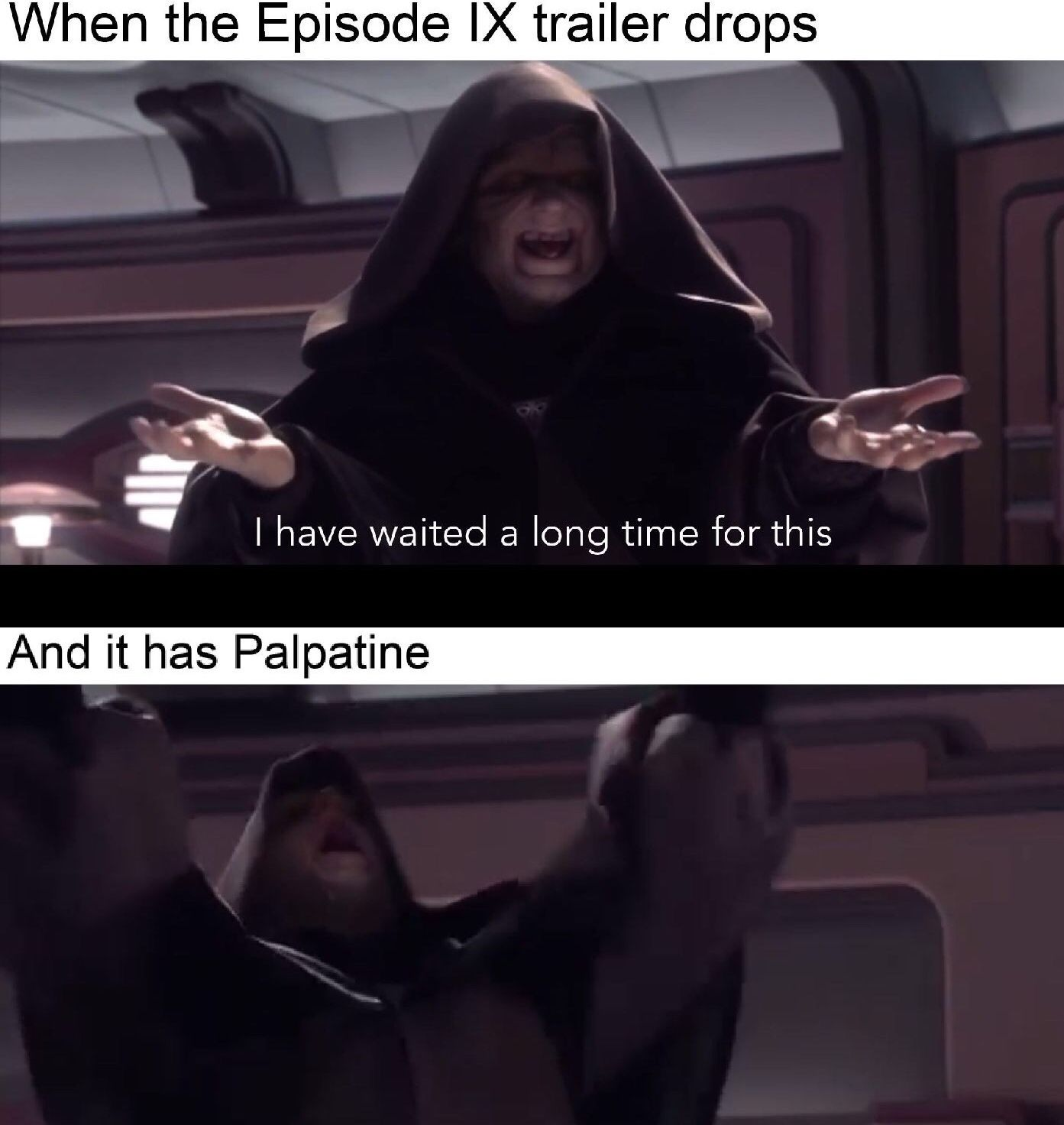 Episode Ix Trailer Meme Star Wars Memes Star Wars Humor Star Wars