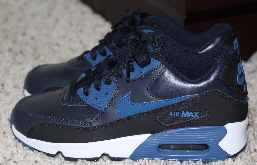 the best attitude 3a64c 105fd New Nike Air Max 90 833412-402 Dark Obsidian Blue-Black SIZE 4