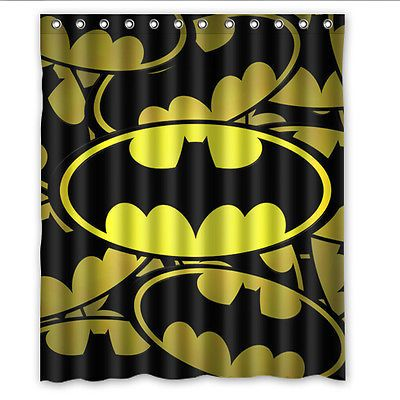 Hot New Custom Batman Logo Shower Curtain 36x72 48x72 60x72 66x72 Bath