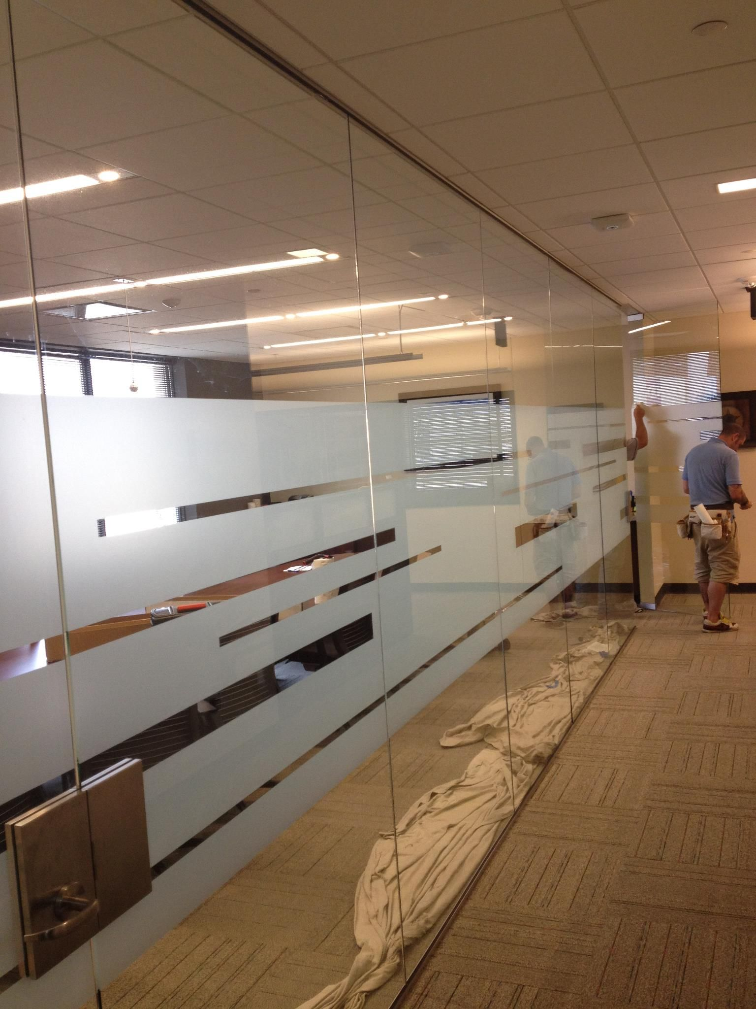 Frosted Vinyl Conference Room Windows Office Interior Design Glass Wall Office Glass Film Design